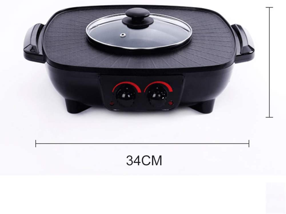 Ljings Grill Smokeless Indoor BBQ Table Electric Grill Korean Style Barbecue Non-Stick Griddle Plate,Adjustable Temperature Control,Easy Clean,1800 W