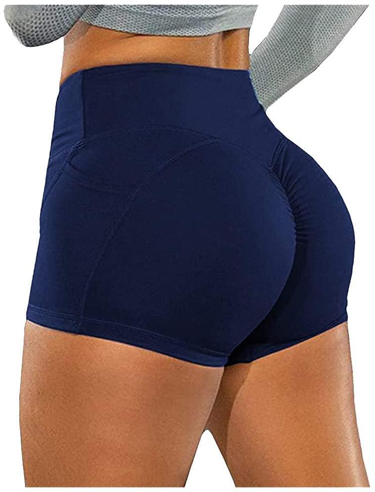Letdown(TM) Shorts for Women Athletic High Waist Basic Slip Bike Shorts Compression Workout Leggings Yoga Shorts Capris