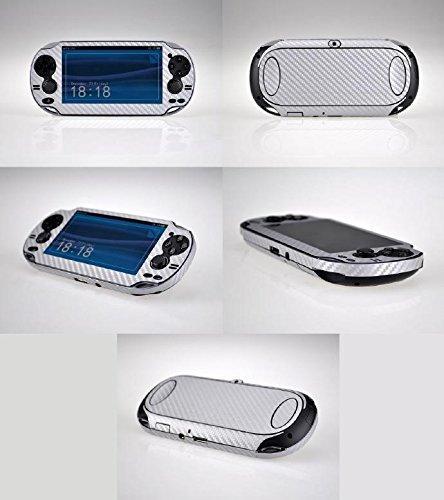 Silver Carbon Fiber Vinyl Skin Sticker Cover Protector for Sony Playstation PS Vita PSV