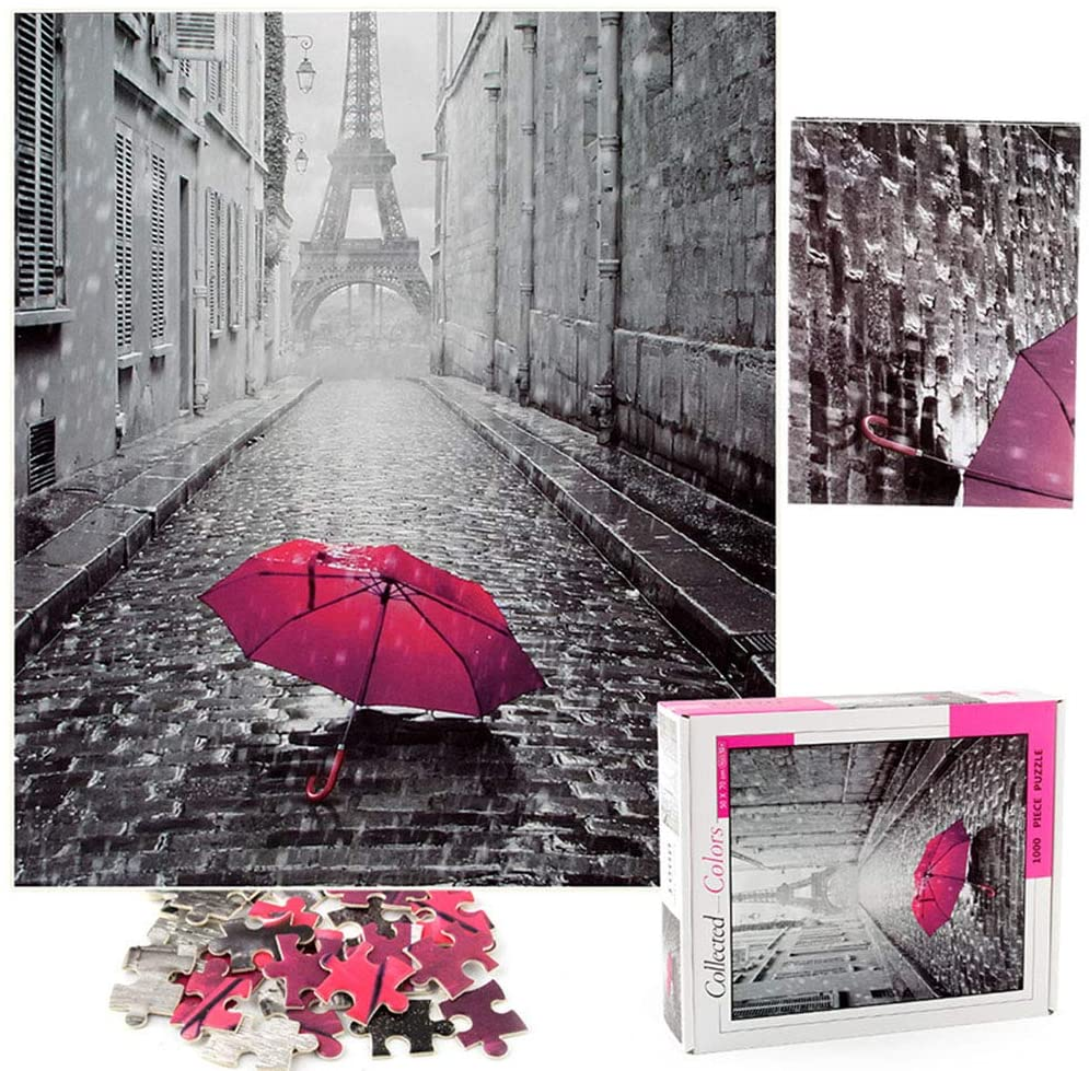 WYYZSS 3D Puzzle Eiffel Tower Thickened Paper Puzzle Decompression Toy, for Self-Assembly Toy Gift for Kids, Teens and Adult