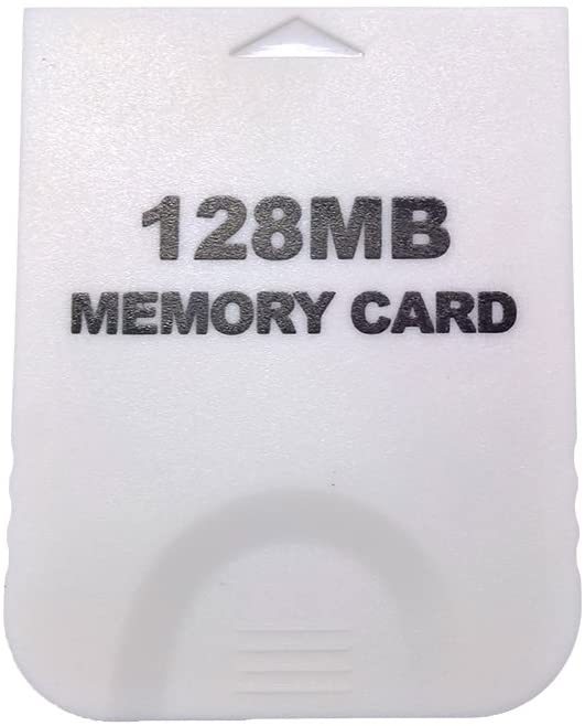 Aoyoho White 128MB Gaming Memory Card Compatible Wii and Gamecube