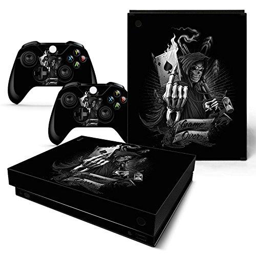 CSBC Skins Xbox One X Design Foils Faceplate Set - Game Over Design