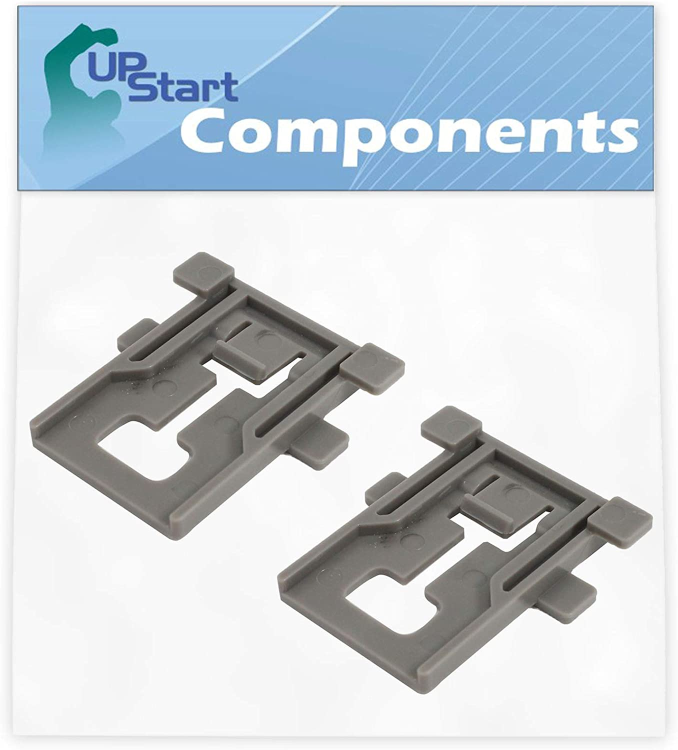 2-Pack W10195840 Dishwasher Rack Adjuster Replacement for Kenmore/Sears 665.12813K313 Dishwasher - Compatible with WPW10195840 Top Rack Adjuster