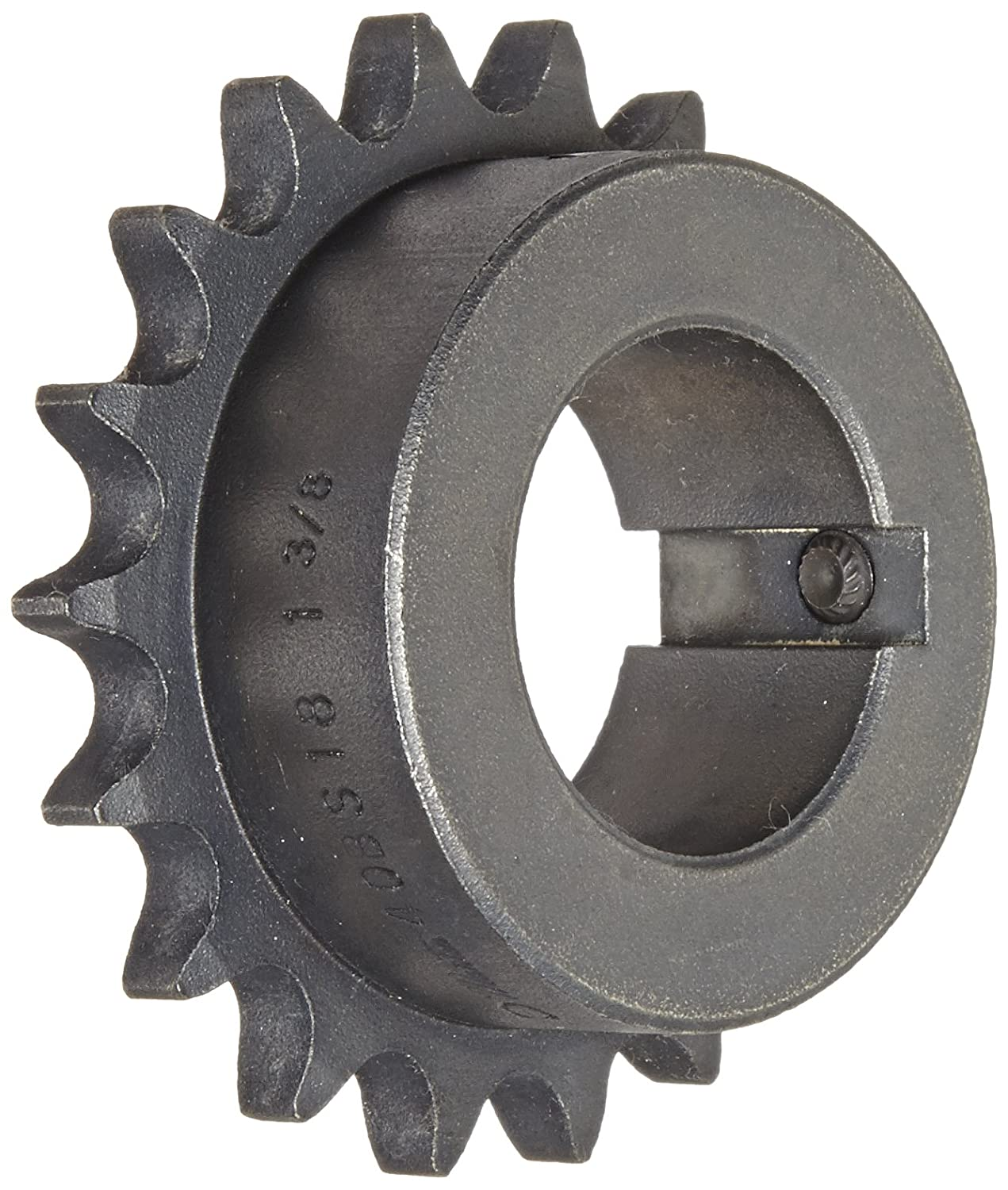 Martin Roller Chain Sprocket, Bored-to-Size, Type B Hub, Single Strand, 40 Chain Size, 0.5
