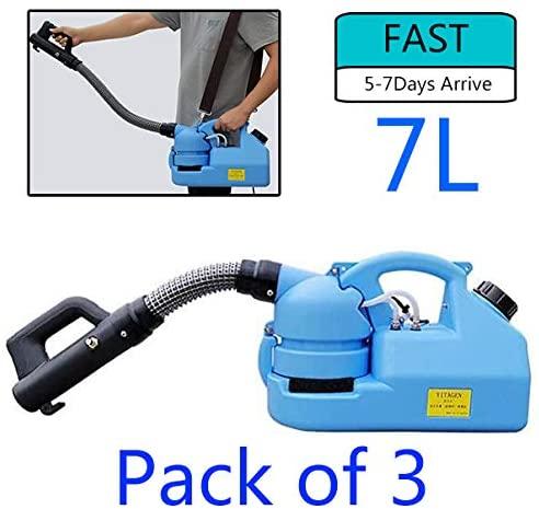 Yaocong (USA Stock 7L (3 Pack) Electric ULV Atomizer (5-7Days Arrive) AC 110V 850W Atomizer Sprayer Killer ULV Fogger Disinfection