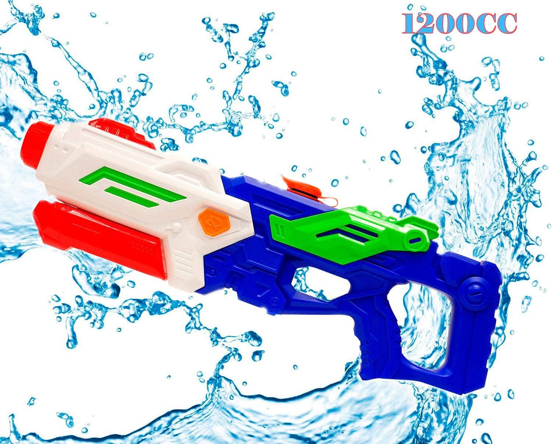 Water Guns Soaker Blaster High Pressure High Capacity 1200CC Long Range Squirt Guns Bulk Super Soaker Summer Water Shooting Gun Swimming Pool Beach Party Favors Toy for Boys Girls Adults Kids