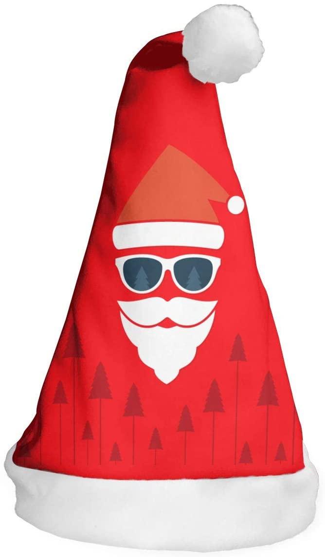 Adult Kid's Santa Claus Christmas Hat Red Plush Festival Party Xmas Caps
