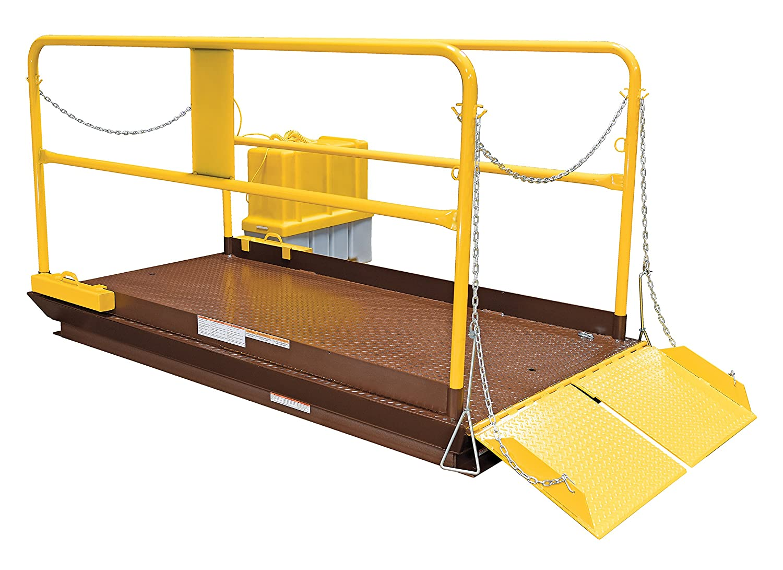 Vestil WL-100-6-88 Premium Truck Scissor Dock Lift, 6000 lb. Capacity, 8