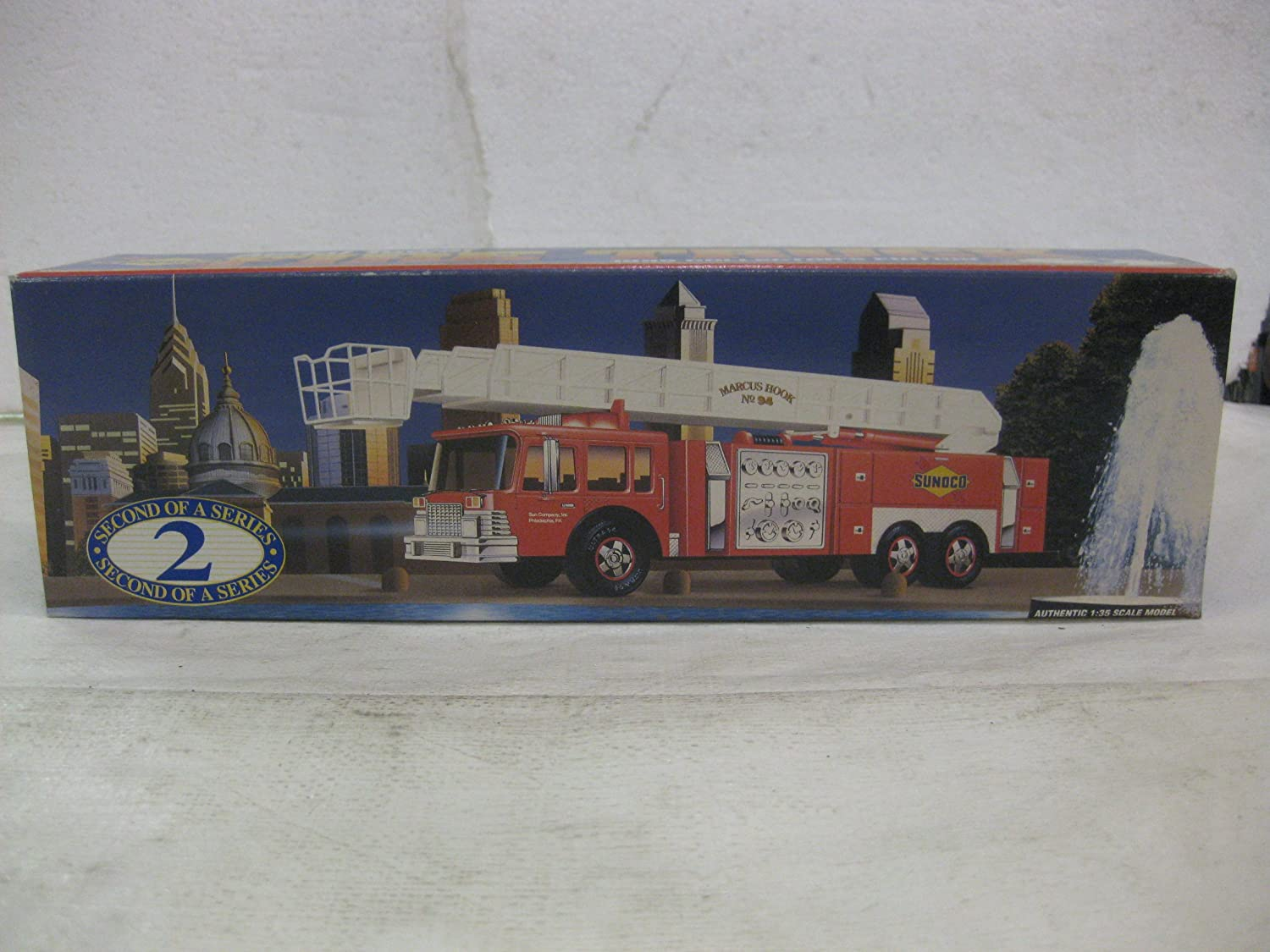 Sunoco Aerial Tower Fire Truck Second in A Series in Red 1:35 Scale by Sun Company