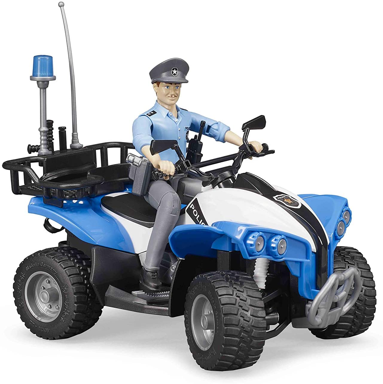 Bruder Quad with Light Skin Police & Accessories (Gender may vary)