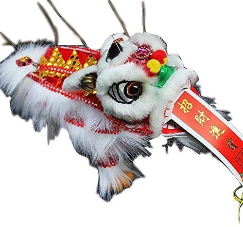 Sparik Enjoy White Lion Marionette Style Puppet - Chinese New Year Dragon Lion - for Play or Display Any Time of Year!