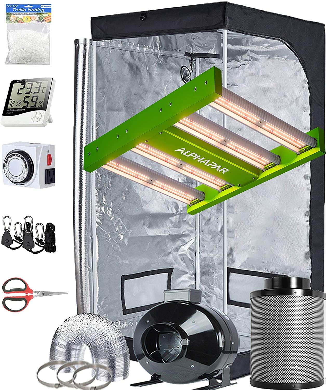 TopoGrow-AlphaPar New Tech LED APE600 Full-Spectrum Grow Light+32