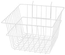 1pc, 12 x 12 x 8 inch White Mini Wire Grid Basket for Slatwall or Pegboard