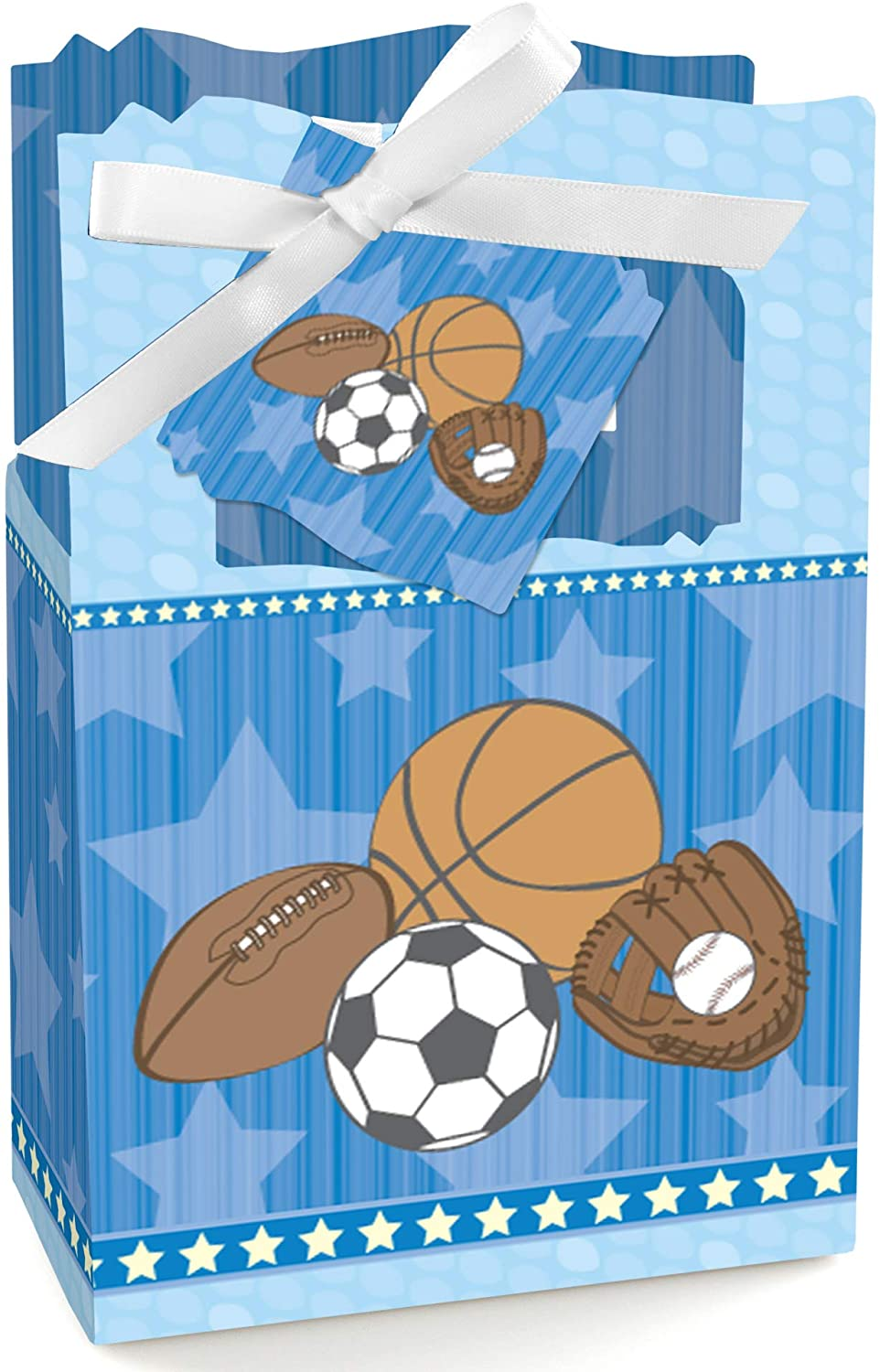 All Star Sports - Baby Shower or Birthday Party Favor Boxes - Set of 12