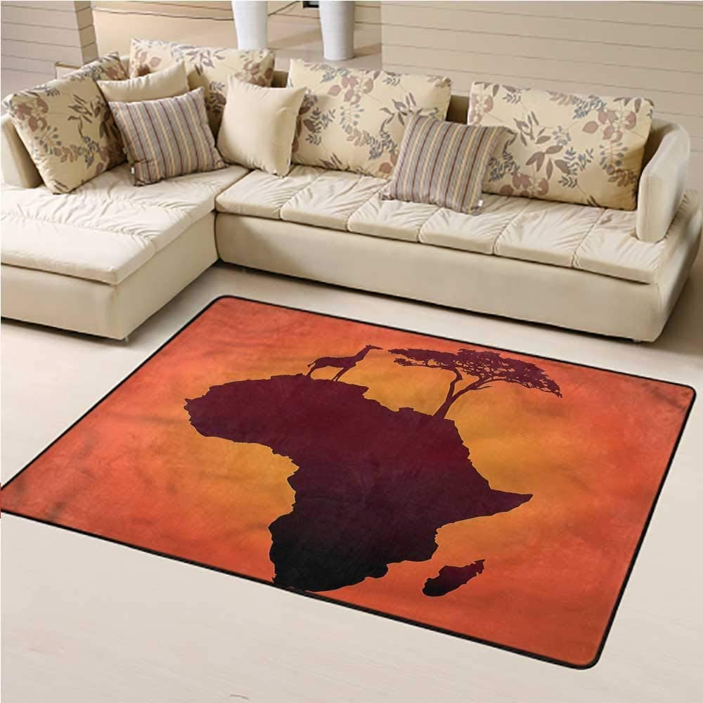Custom Rug African Kids Play Rug Safari Wild Animals 3 x 5 Rectangle