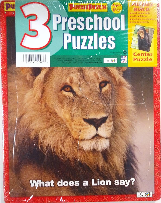 3 Preschool Puzzles: Elephant, Lion & Monkey - 9