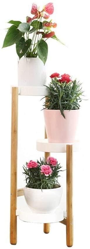 QNN Plant Stands,Pot Rack Wood Flower Rack Plant Stand Shelves Bonsai Display Shelf Indoor Patio Balcony Flower Stands Plant Shelves Decorative Flower Pots,20Cm70Cm,20Cm70Cm
