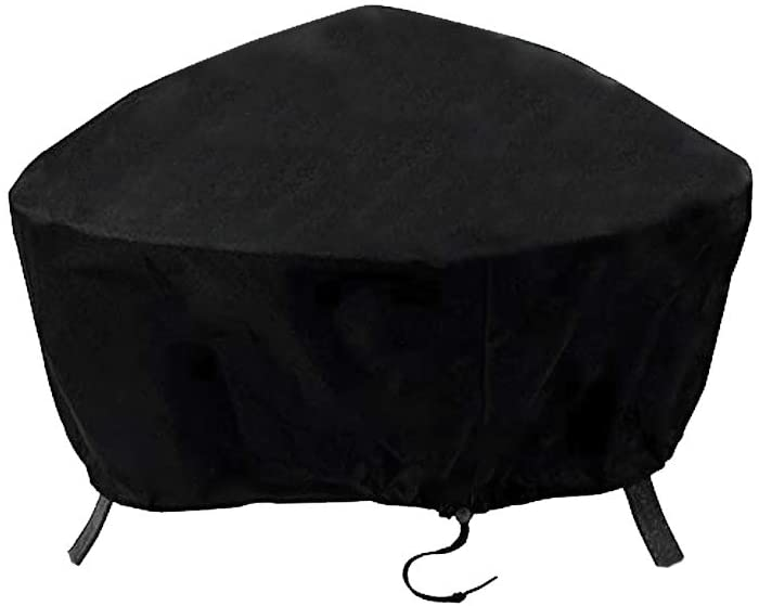 ValueHall Fire Pit Cover Waterproof 600D Outdoor Bowl Table Cover Round Fire Pit Cover Patio Protective Cover V7084B (36 inch)