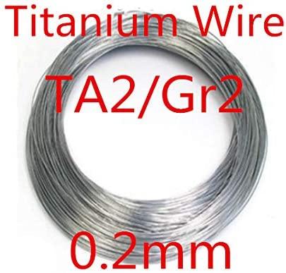 Ochoos 10meters 0.2mm Pure Ta2/Gr2 Titanium Wire, Industry Experiment DIY Titanium Wire
