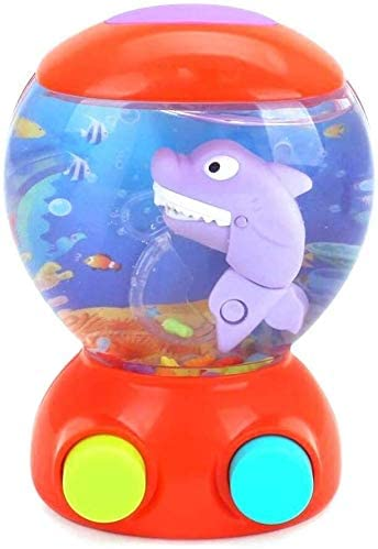 Aoyo Plastic 1PC Cartoon Shark Games Toy Child Educational Ring Throw Puzzle Toy