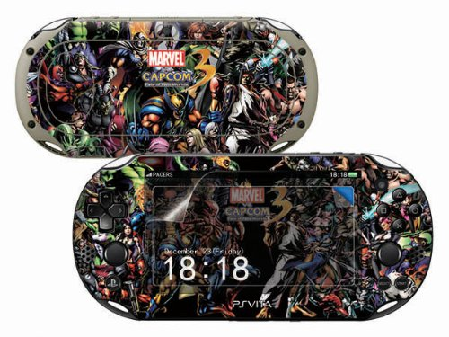 Sony PS Vita-2000 MARVEL VS CAPCOM 3 Protective Vinyl Skin Decal Set