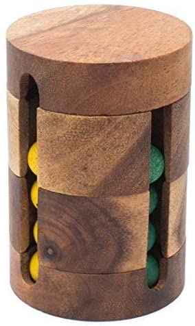 Spinning Drum: Handmade & Organic Traditional Wood Game for Adults from SiamMandalay with SM Gift Box(Pictured)