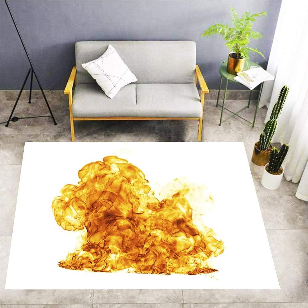 Kids Play Mat,Carpet Non-Slip Mat,Big Fireball XXXL,Home Decor Floor Carpet,60x39 in