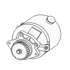 E7NN3K514CA Steering Pump Fits Ford/NH 345C 345D 445 445A 445C 445D 450 455 545