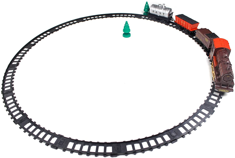 Little Treasures Sleek Rail Master Train Playset Toy Fantastic Gift Set Idea for Boys and Girls