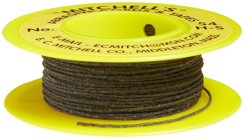 Mitchell Abrasives 54H-S Round Abrasive Cord, Silicon Carbide 180 Grit .025