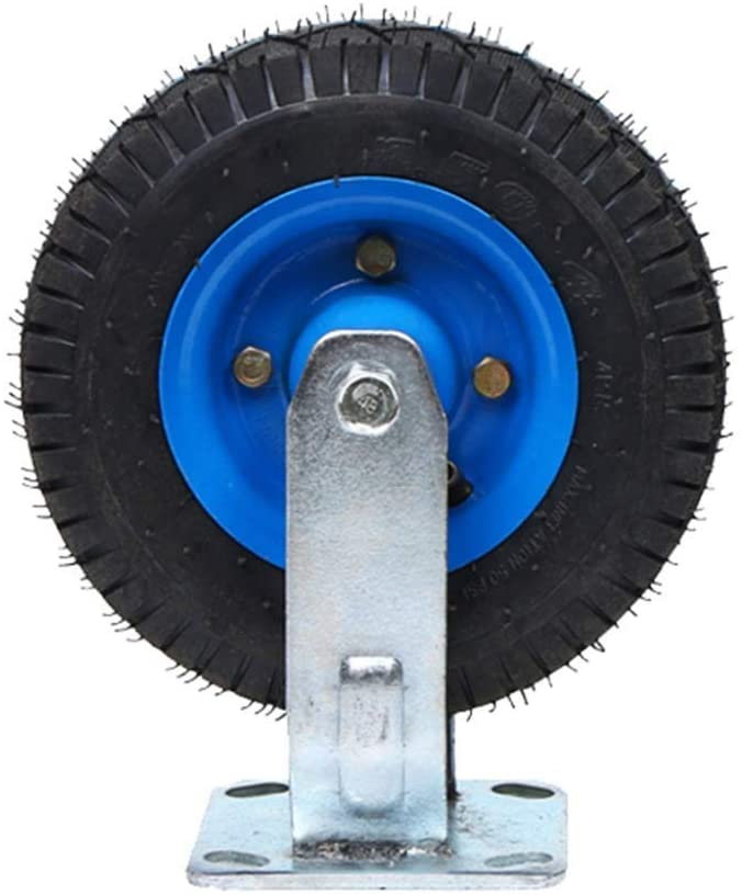 Casters,1 Item Heavy Rubber Inflatable Universal Wheel,Trolley Flatbed Truck Industry Directional Wheel,Replace Accessories Brake Wheel Non-Slip Wear/A / 8in