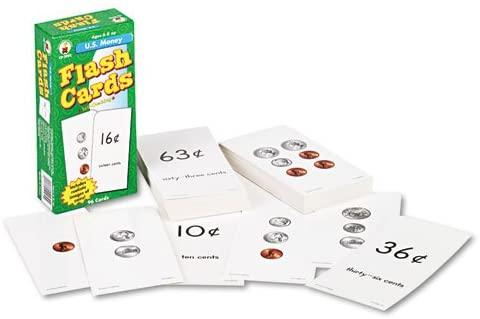 Carson-Dellosa Publishing Flash Cards, U.S. Money, 96pk