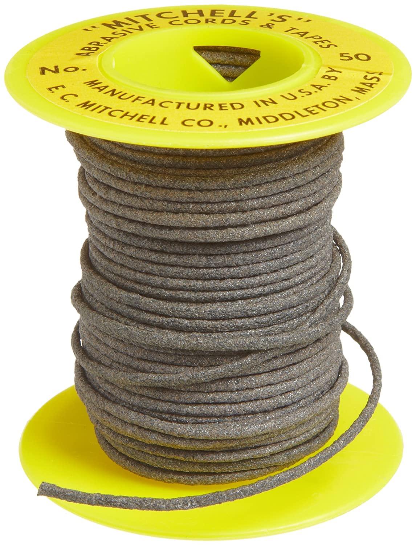 Mitchell Abrasives 50 Round Abrasive Cord, Aluminum Oxide 180 Grit .070