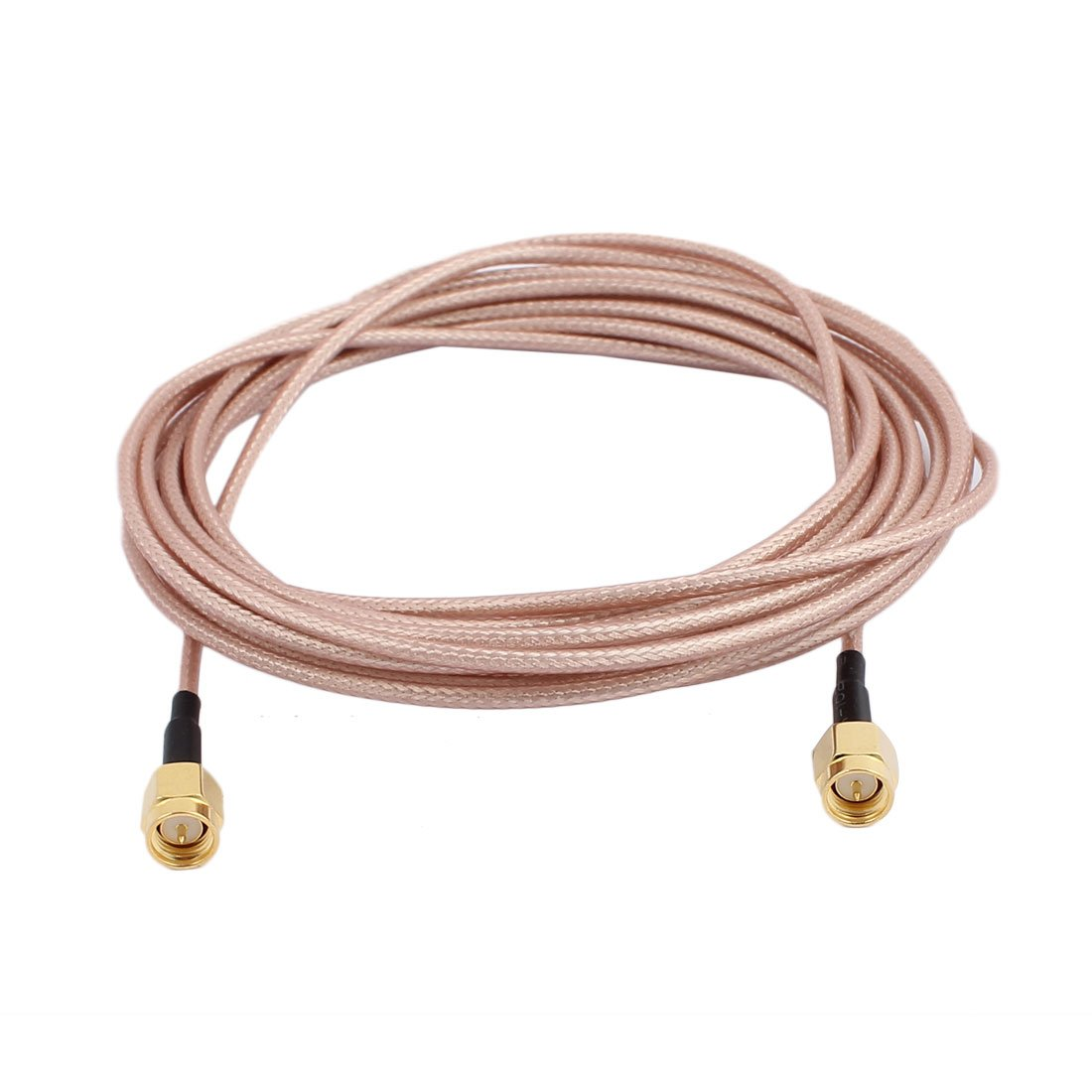 uxcell Gold SMA Male to SMA Male Adapter Connector RG316 Coaxial Cable for Satellite Television 10Feet