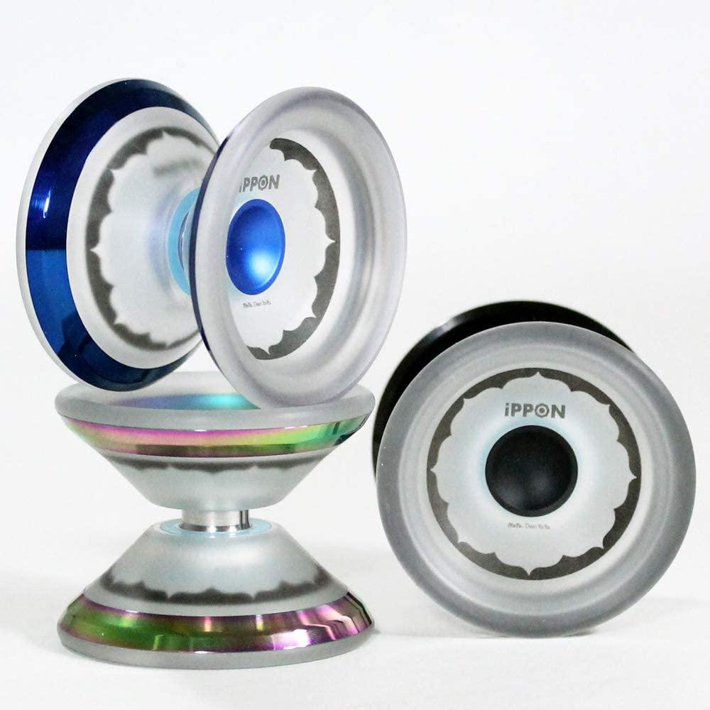 iYoYo iPPON Yo-Yo - CNC Machined Polycarbonate YoYo with Stainless Steel Rims (Red)