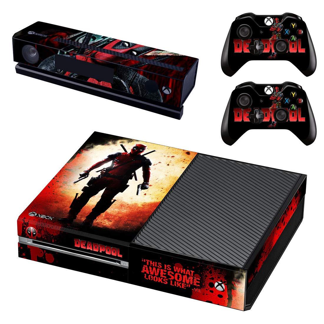 Adventure Games® - XBOX ONE ORIGINAL - Deadpool - Playstation 4 Vinyl Console Skin Decal Sticker + 2 Controller Skins Set