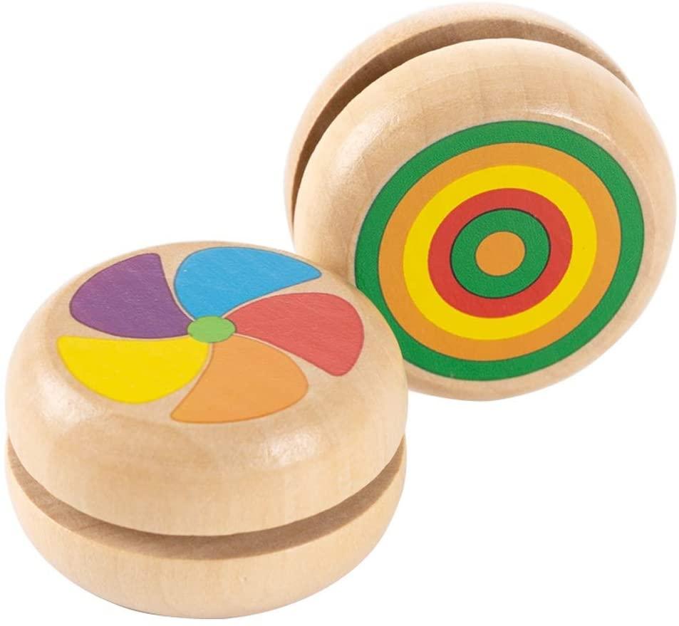 Lihgfw Yo-Yo Children's Toys Boys and Girls Gifts Kindergarten Pupils Friends Wooden Yo-yo Nostalgic Toys 5-8-year-old Birthday Gifts
