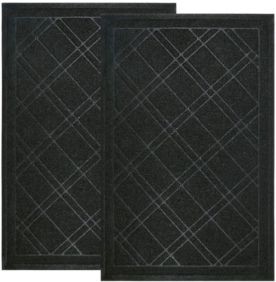 Pauwer Indoor Outdoor Door Mats Set of 2 Large 24