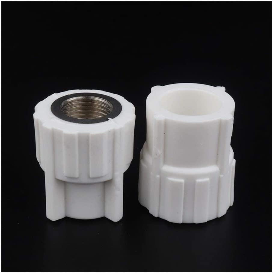 10pcs/lot PPR Female 1/2 3/4 1 Thread to 20mm 25mm 32mm Straight Connector PPR Pipe Plumbing Fittings PPR Water Pipe Adapter Tubing, Pipe (Color : White, Diameter : 32mm 1 inch)