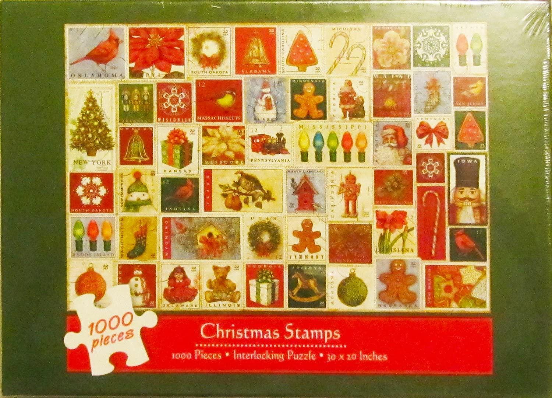 Christmas Stamps 1000 Piece Interlocking Puzzle