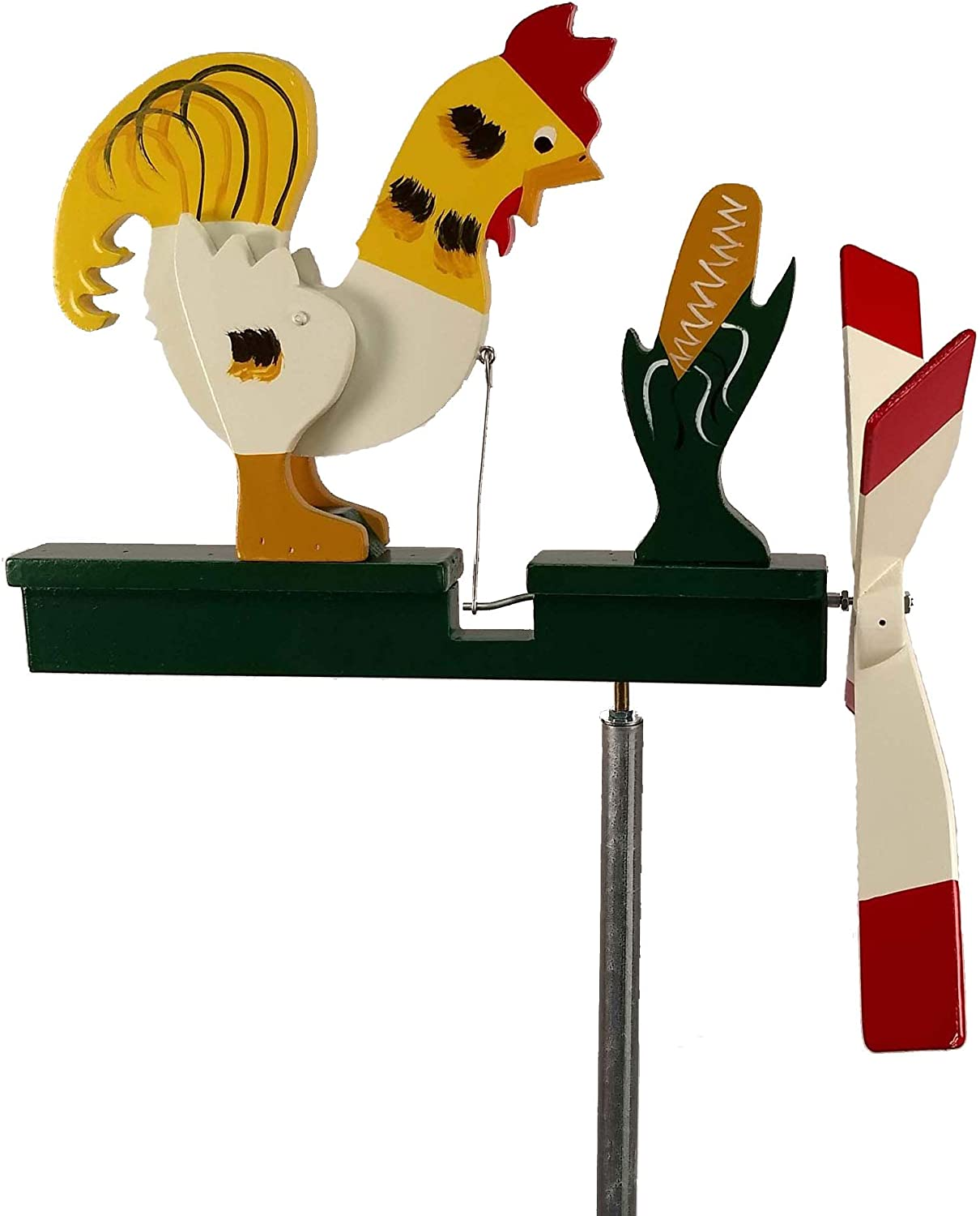 Natures Yard Rooster Whirligig Wind Spinner Handmade in USA