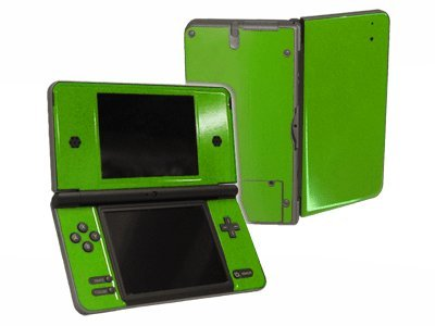 Monster Green Vinyl Decal Faceplate Mod Skin Kit for Nintendo DSi XL (DSi-XL) Console by System Skins
