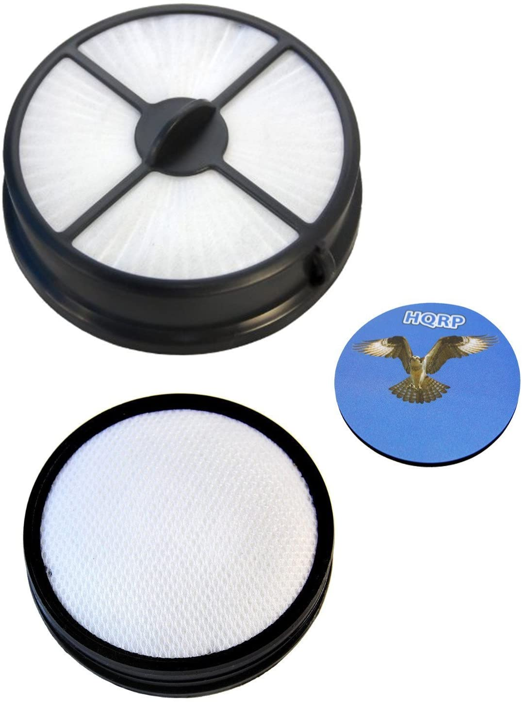 HQRP Kit: Primary Filter Assembly and Exhaust Media Filter for Hoover UH70403PC WindTunnel Air Whole Home Plus Coaster