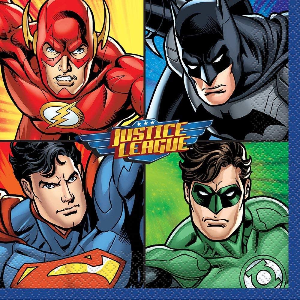 Justice League Party Napkins, 16ct