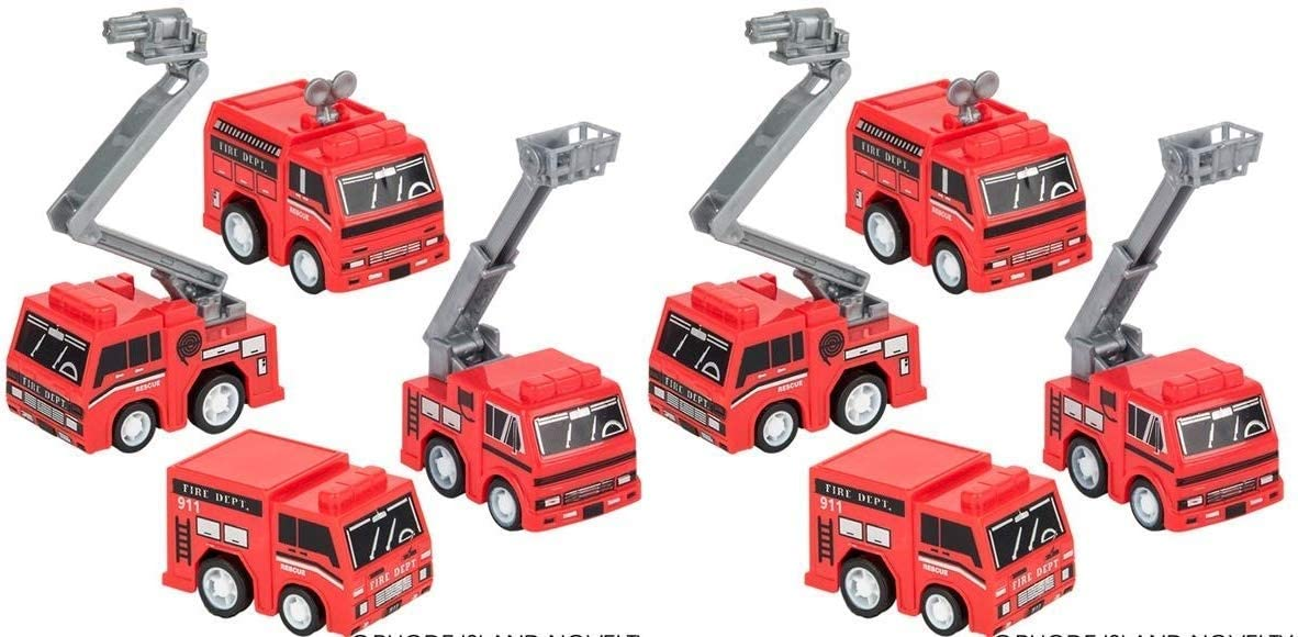 HAPPY DEALS ~ Pull Back Friction Fire Trucks and Ladder Trucks - Bulk Class Pack of 24