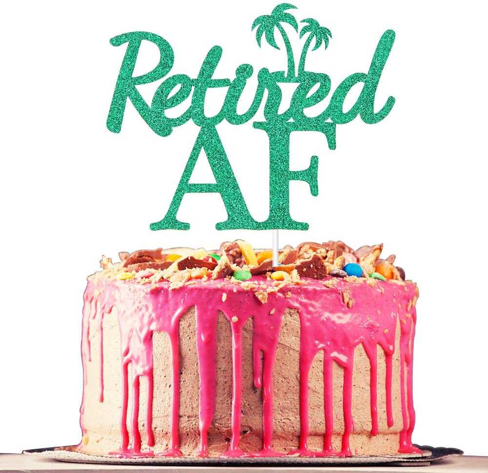 Retired AF Cake Topper, I'm Retired, Officially Retirement, The Legend Has Retired, Retirement Party Decoration Supplies