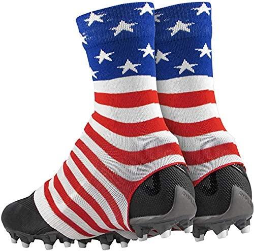 TCK Football Spat Cleat Covers (USA Flag, Large)