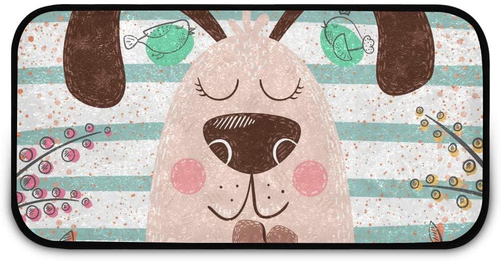 Rectangle Shaggy Rug Rugs Kitchen for Kids Princess Cute Dog Bathroom Anti-Slip Rug Rectangle Carpet Play Mat