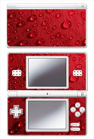 Red Raindrop Skin for Nintendo DS Lite Console