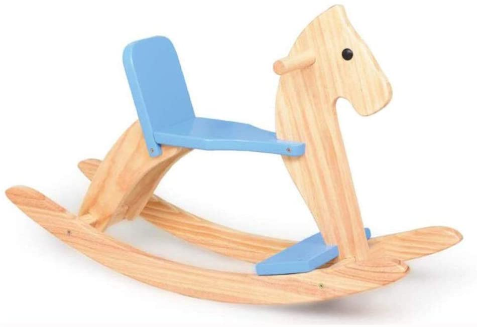 Outdoor Animal Rocker Girl/Boy Ride On Toy for 1-6 Year Old,Child Rocking Wooden Rocking Chair,Adults Can Also Sit,Rocking Horse, 31.4×9.8×20.4inch (Color : B)